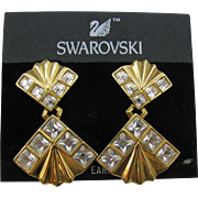Vintage Swarovski Large crystal earrings