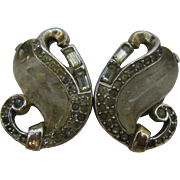 Rare Trifari Jelly Belly Curl-Clip earrings