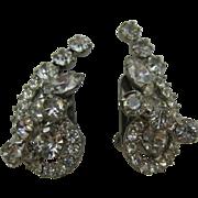 Juliana earrings clear rhinestones unique design