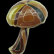 Eisenberg Enameled Mushroom pin 1960's