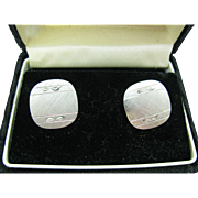 Marshall Fields sterling silver men's cuff links look like new