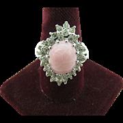 Park Lane cocktail ring pink center stone size 9