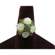 Vogue Ring with faux moonstones ( 10 dollar special)