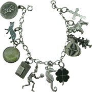 Sterling Silver Charm bracelet with eleven charms