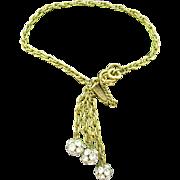 Miriam Haskell Delicate dangle bracelet