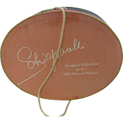 Schiaparelli Red velvet hat with Hat Box