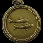 14k Gold Pisces Charm 3.3 grams