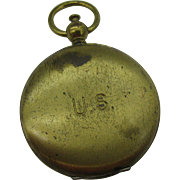 US Brass Military Compass Looks like pocket watch