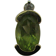 Estate Peridot earrings with diamond