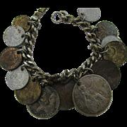 Foreign Coin Bracelet 13 Coins