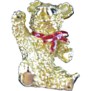 Cute little Teddy Bear Pin vintage RJ Graziano First in the Series