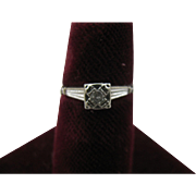 14K White Gold size 5 3/4 Diamond ring