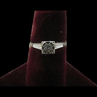 14K White Gold size 5 3/4 Diamond ring