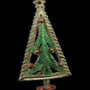 B.J Christmas tree pin