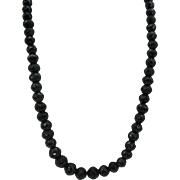 Wonderful multi Faceted Black crystal beaded necklace