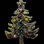 Mylu Multiple colored Rhinestone Christmas Tree