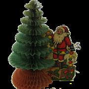 1920's Beistle honeycomb tree with Santa