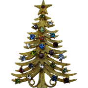 Mylu Multiple colored Rhinestone Christmas Tree
