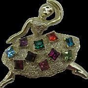Pretty Ballerina Pin square stone skirt