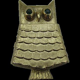 Cute AVON Owl perfume pin