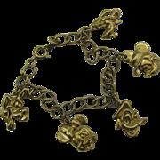 Vintage Disney Charm bracelet Micky, Minnie, Donald, Goofy, Pluto