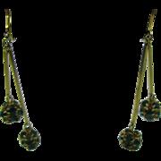 Great dangle earrings in Kelly Green