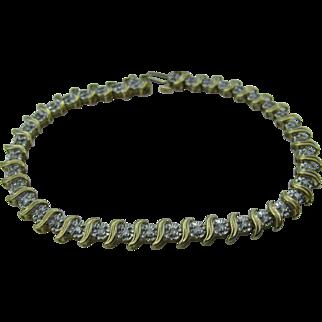 10K gold and diamond Tennis bracelet