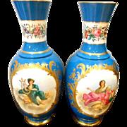 Antique Old Paris Porcelain Vases