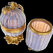 Murano opaline  glass 2 pc box set