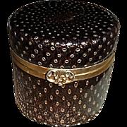 Murano Glass Box,  Black w/goldstone, controlled bubbles