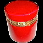 Murano Fire Engine Red Glass Box