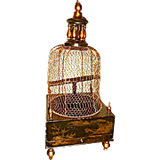 Antique Bird Cage. Chinese Lacquer