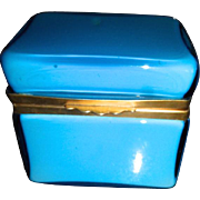 Vintage Murano Opaline cased glass box