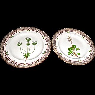 Pr. Flora Danica ,Royal Copenhagen Dinner Size Plates