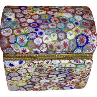 Vintage Murano Milifiore hinged,Domed box