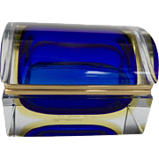 Vintage Murano Sommerso glass box