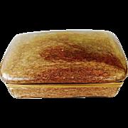 Large Vintage Murano All Glitter Aventurine Glass box