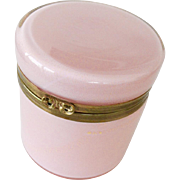 Murano Opaline glass box Pale pink