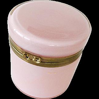 Murano Opaline glass box Pale pink