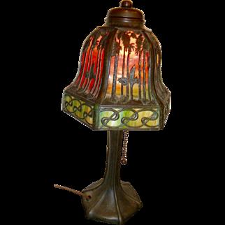 Antique Handel   sunset design boudoir lamp