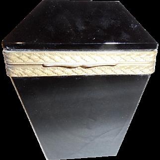 Vintage Black opaline glass box