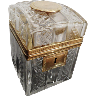 Antique crystal box Charles X Style