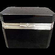 French Opaline Black Box exceptional bFrench opaline glass box