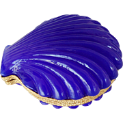 Opaline glass Box  Large size Clamshell