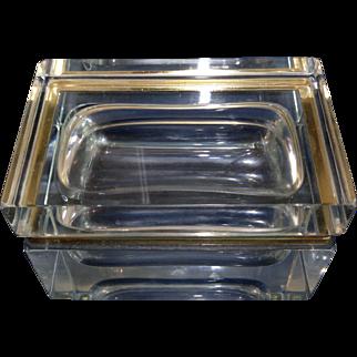 Very large Vintage Mandruzzato glass box