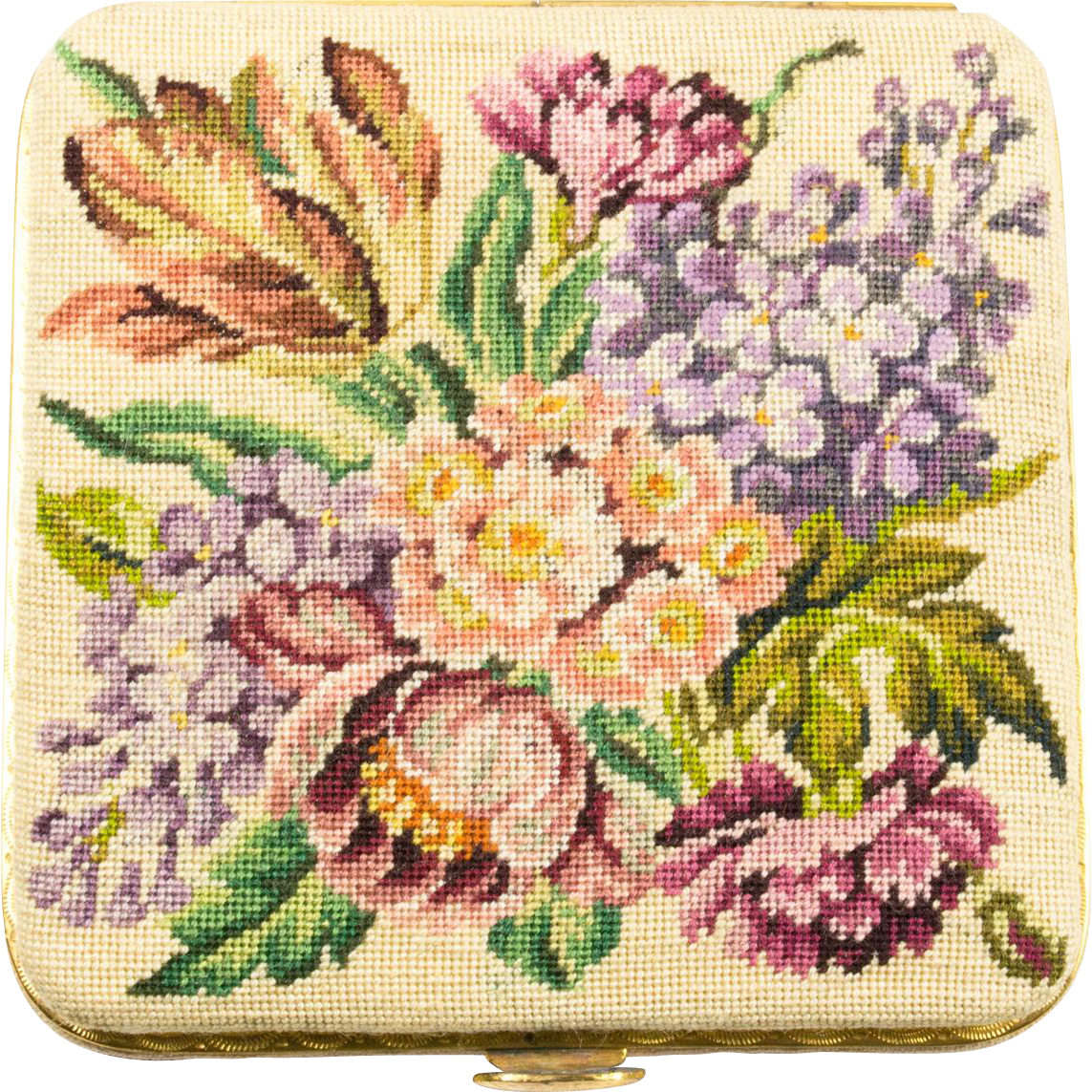 Micro Petit Point Vintage Compact From Vermeercollectibles