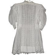 Edwardian White Cotton Little Girl's Dress