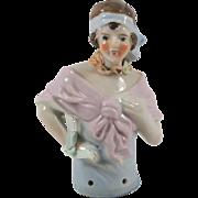Vintage Japanese Flapper Half Doll