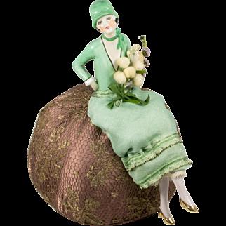 Flapper Half Doll Fasold & Stauch Pincushion