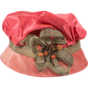 Antique Silk Hat for A French or German Doll